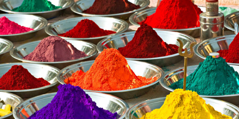 seasonings of bright colors