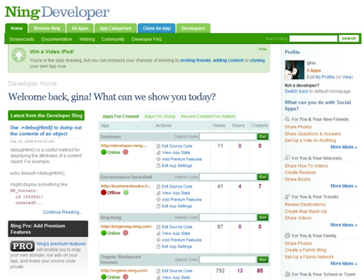 Developer Homepage