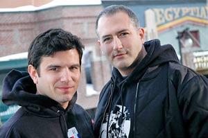 Directors Scott DiLalla (left) and Zack Coffman at the Sundance Film Festival (2007)