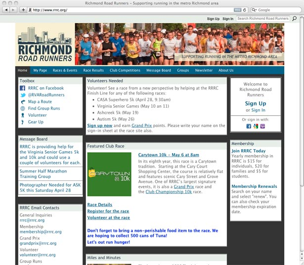 Richmond Road Runners - Supporting running in the metro Richmond area
