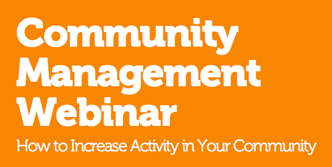 Ning Community Management Webinar: Online and Ready for Viewing
