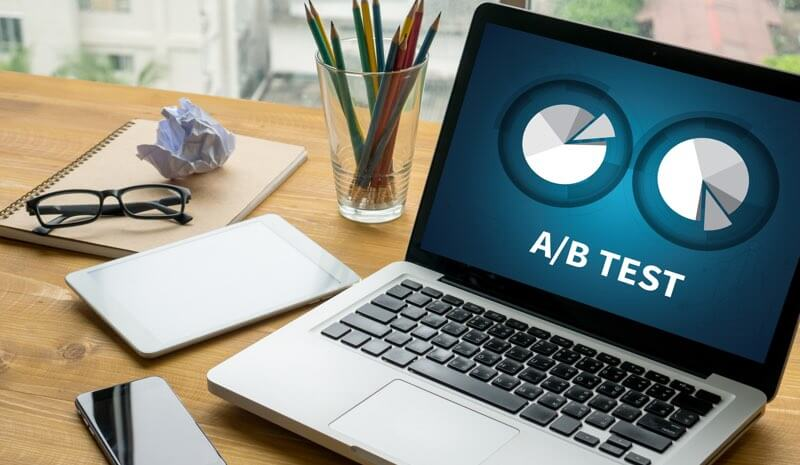 How to perform efficient A/B testing for a landing page