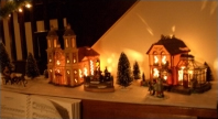 Christmas village on the piano, from Cedric Savarese