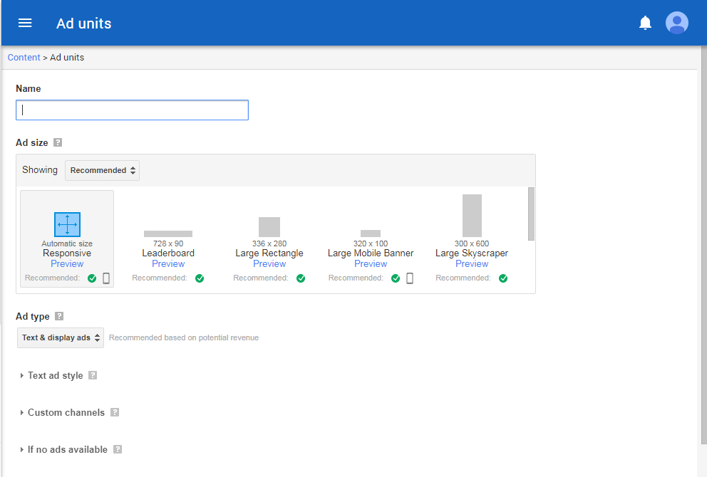 Sign Up for Google AdSense | Ning Help Center