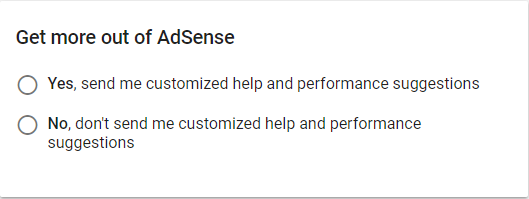 Sign Up for Google AdSense | Ning Help Center