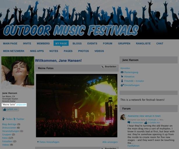 Individualisieren Sie das Design auf Ihrer Profilseite (â