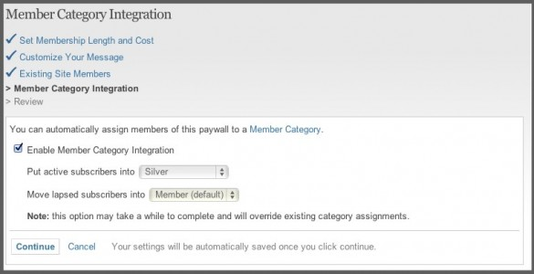 Integrate Member Categories With Paid Access 1