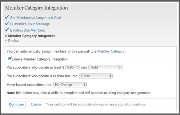 Integrate Member Categories With Paid Access 2