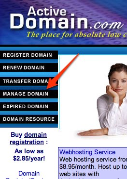Using your Own Domain from Active-Domain.com 1