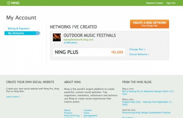 Upgrade Your Ning Plus Network 3