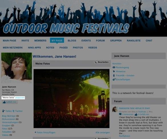 """Individualisieren Sie das Design auf Ihrer Profilseite (�Meine Seite"""")"""
