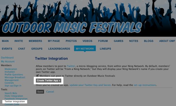 Create a Twitter App | Ning Help Center