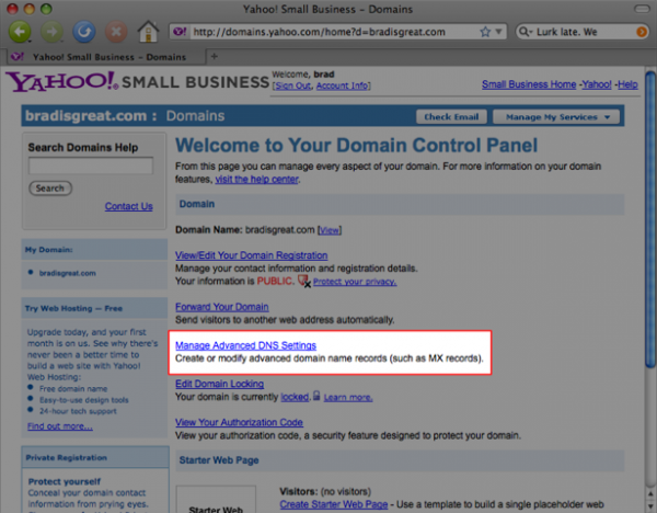 Use Your Own Domain with Yahoo Domains - Ning 3 Help
