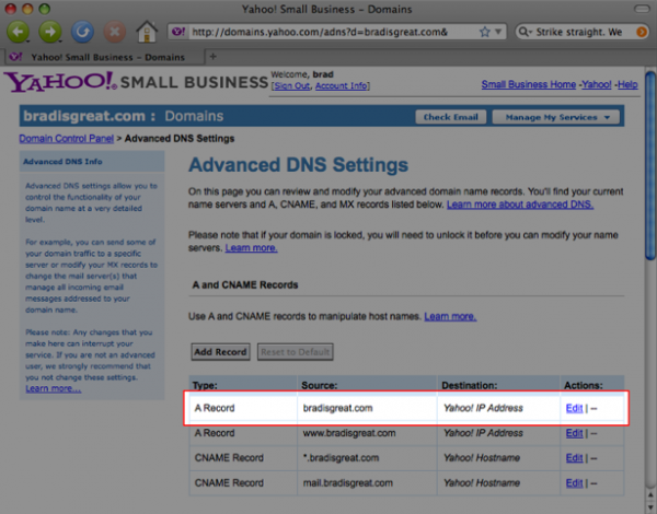 Use Your Own Domain with Yahoo Domains 4