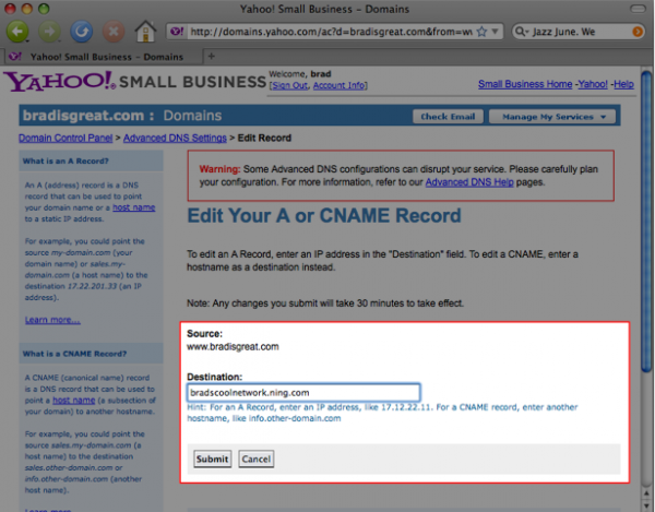 Use Your Own Domain with Yahoo Domains 7