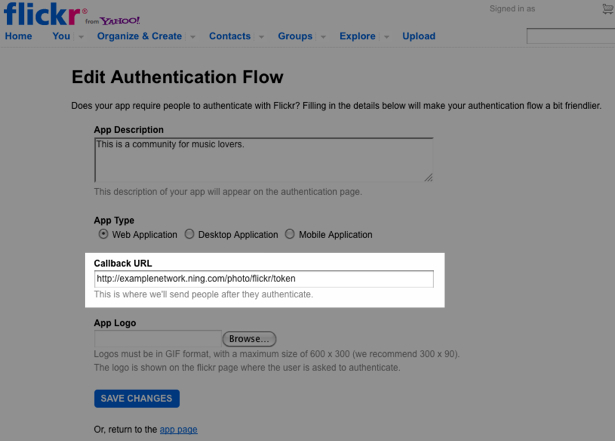 Enable Importing From Flickr Accounts 6