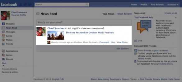 Share Content and Post Your Status Updates Directly to Facebook 5