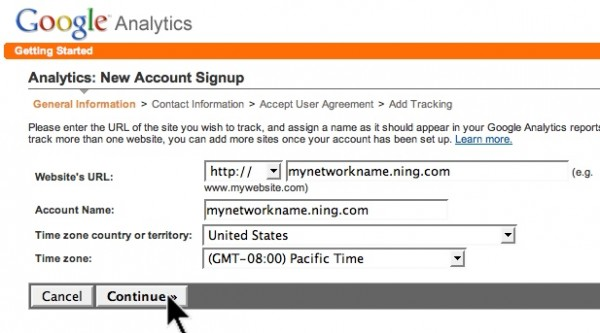 how to setup google analytics account for website