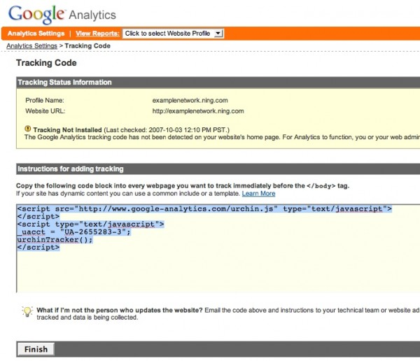 Set Up Google Analytics 3