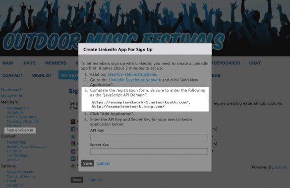 Enable Social Sign In with LinkedIn 3