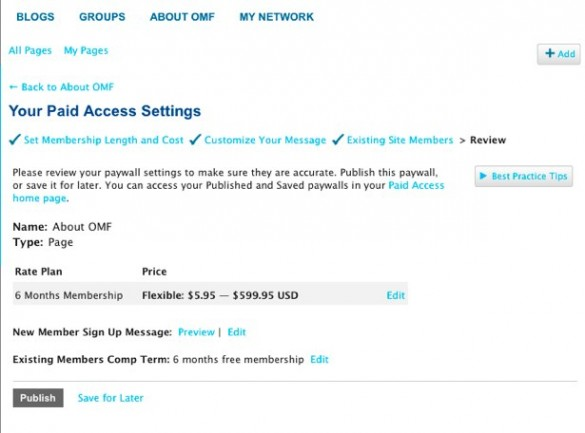 Charge for Pages with Paid Access 7