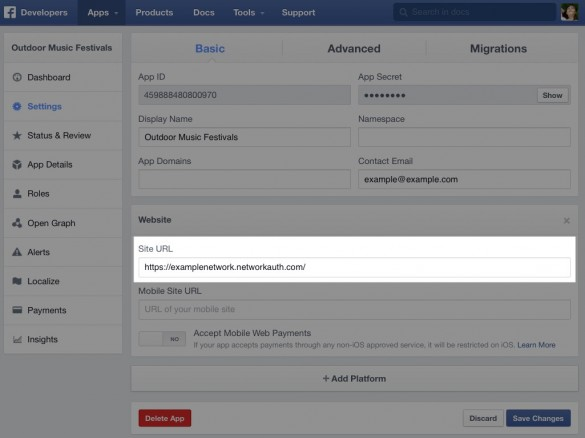 Enable Social Sign In with Facebook 6