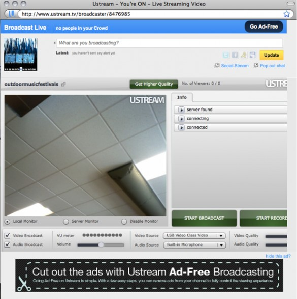 Create a Live Video Channel on Ustream 3
