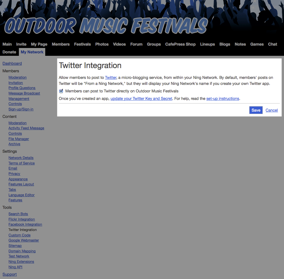 Twitter Integration on Your Network 2