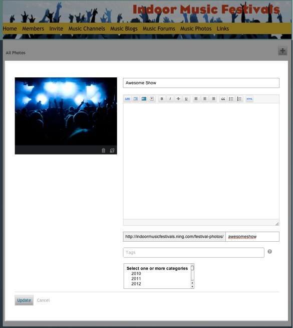 Edit Photo - Indoor Music Festivals