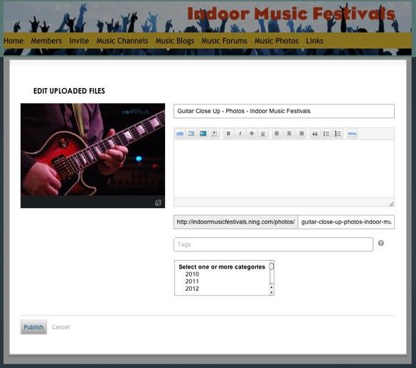 Edit Uploaded Files - Indoor Music Festivals