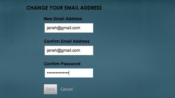 how to change your current gmail email address