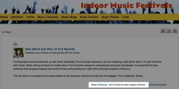 New album due May 1st on K Records - Discussion blog! - Indoor Music Festivals