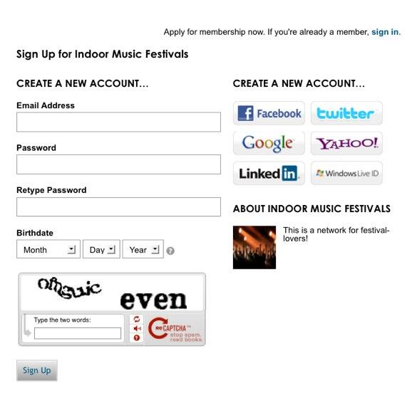Sign Up - Indoor Music Festivals-1