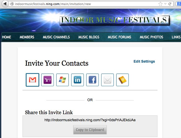create an invitation tab ning 3 help