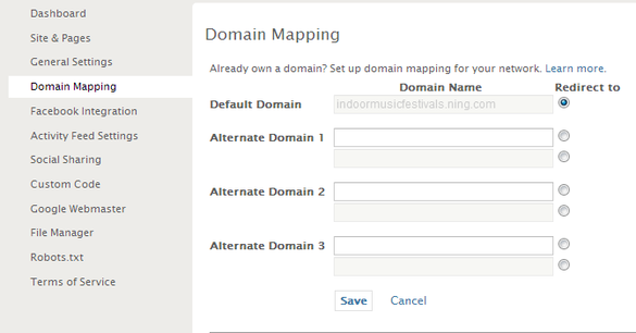 Using your Own Domain from Active-Domain.com