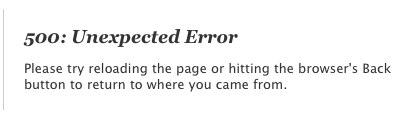 500_ Unexpected Error