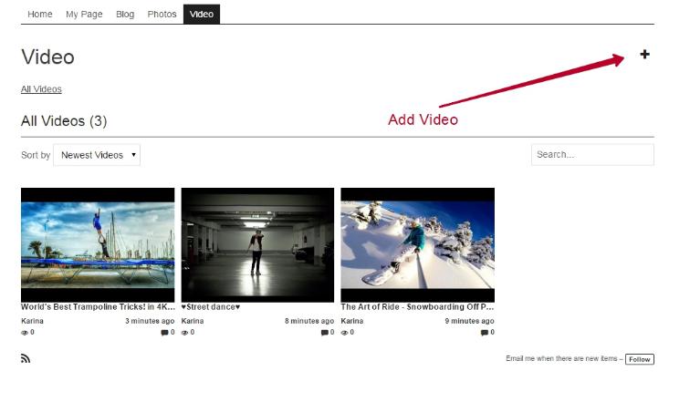 Adding Videos 1
