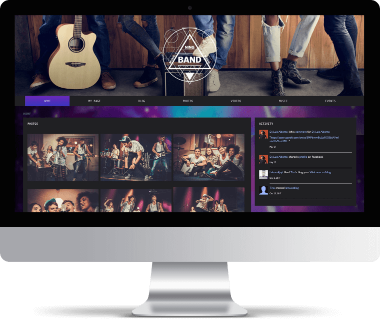 Create a music website | Music website builder | NING