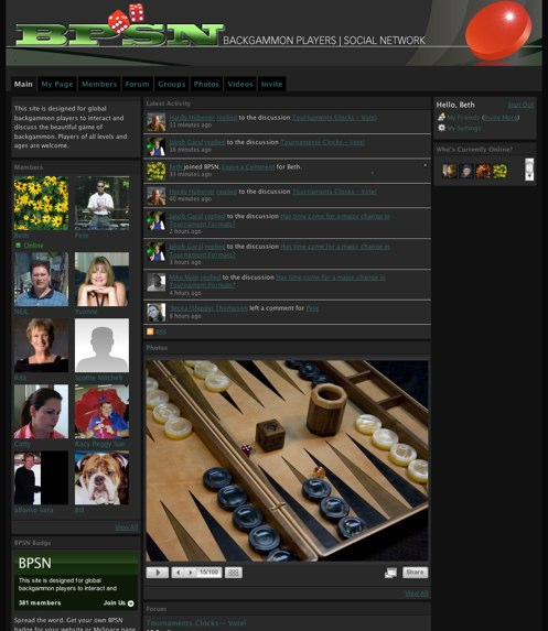 Backgammon Players Social Network