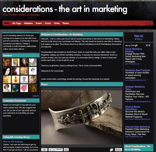 The art of marketing art