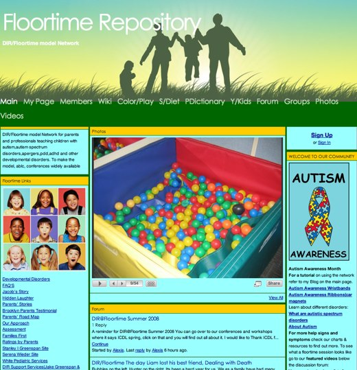 Helping Autistic childen at Floortime Repository