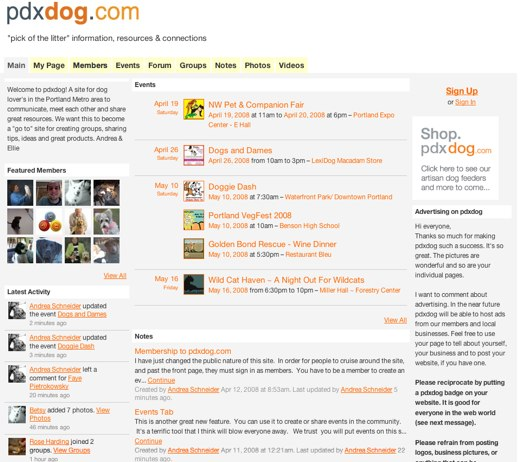 pdxdog: A social network for dog lovers
