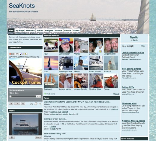 SeaKnots: for those who cruise the ocean