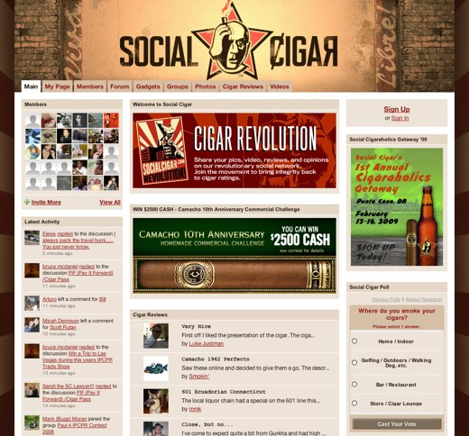Lounging with Social Cigar