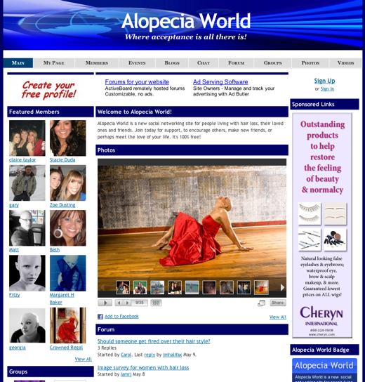 Finding Acceptance at Alopecia World