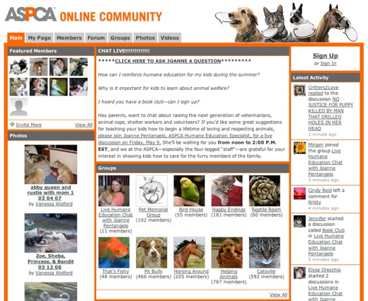 ASPCA: Animals Saved, Pets Cared About