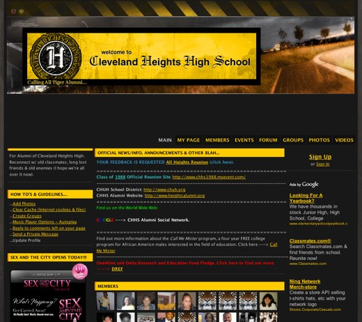 Cleveland High School's online reunion