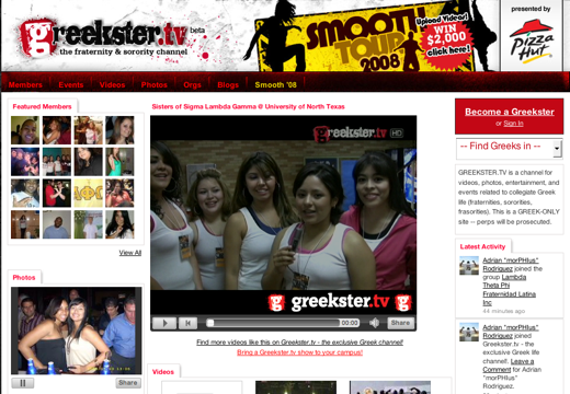Stepping it up with Greekster.tv