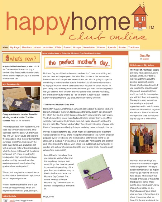 Make your home a Happy Home