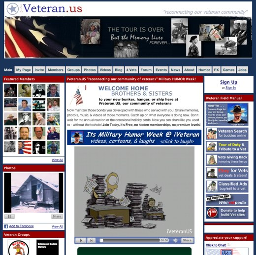Updates for the armed forces at iVeteran.us